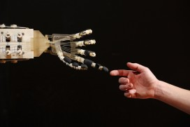 A Dexmart robotic hand built at the University of Bologna in the Robotville exhibition at the Science Museum on November 29, 2011 in London, England (Oli Scarff/Getty Images)