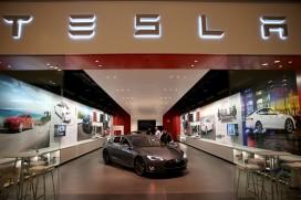 A Tesla Motors vehicle in a Miami, Florida showroom (Joe Raedle/Getty Images)