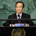 China's Prime Minister Wen Jiabao addresses the Millennium Development Goals Summit at the United Nations headquarters in New York, September 22, 2010