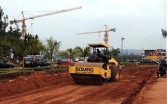 Chinese company constructing a road in Rwanda