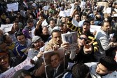 Supporters of Hosni Mubarak, the embattled Egyptian president, rally