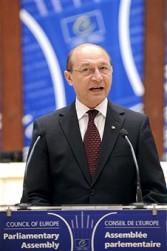 Trajan Basescu, president of Romania