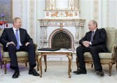 Bob Dudley, BP chief executive, and Vladmir Putin, Russian prime minister, when the BP-Rosneft deal was announced in January 2011
