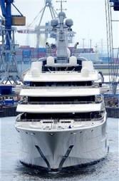 Roman Abramovich's yacht June 2010