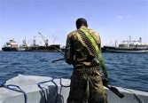 A Somali coastguard returns from a patrol off the coast of Somalia's breakaway Republic of Somaliland on March 30, 2011.