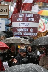 Latvia demonstrates
