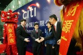 Richard Stanley, CEO of Citigroup China, Fang Xinghai, Deputy Director of the Shanghai Metropolitan Government's Office for Financial Services