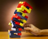 Collapsing tower of blocks