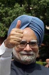 Indian PM thumbs up