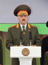 Lukashenko celebrating liberation from Nazis