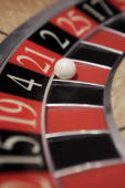 A roulette wheel