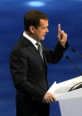 Dmitry Medvedev,Russian president, speaks Sept 2011