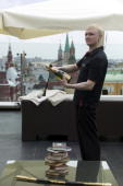 Ritz Carlton Hotel, Moscow, opening of roof top bar 2007