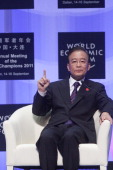 Wen Jiaobao, Chinese premier, at the opening of the World Economic Forum, Dalian, China, Sept 2011