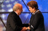 Sep Blatter and Dilma Rouseff at the World Cup draw, July 2011