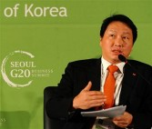 Chey Tae-won, chairman of SK Group, South Korea nov 2010