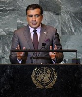 Mikheil Saakashvili, president of Georgia, Sept 2011