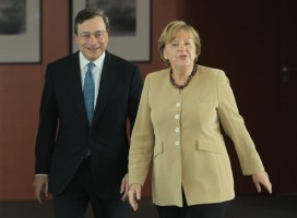Draghi meets German chancellor Angela Merkel in Berlin last week