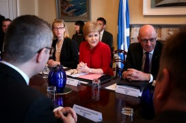 Scotland's first minister Nicola Sturgeon holds a cabinet meeting on Tuesday