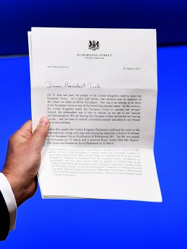 Theresa May's Article 50 notification letter