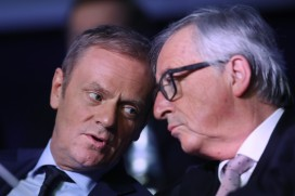 Donald Tusk (left) and Jean-Claude Juncker