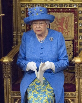 The Queen makes her speech in the House of Lords