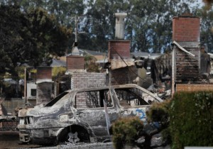 The aftermath of the California explosion