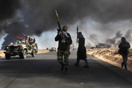 Fighting in Ras Lanuf, Libya