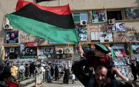 A Libyan man in Benghazi