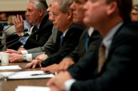 (From l to r) Rex Tillerson, Chairman and CEO of ExxonMobil; John Watson, Chairman and CEO of Chevron; James Mulva, Chairman and CEO of ConocoPhillips; Marvin Odum, President of Shell Oil Company; and Lamar McKay, President and Chairman of BP America