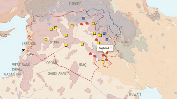 Isis in Iraq interactive map