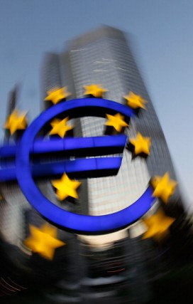 Euro symbol at the European Central Bank