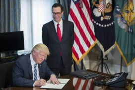 Donald Trump and Steven Mnuchin