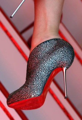 A shoe by Christian Louboutin