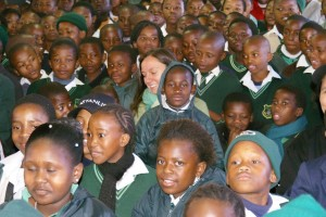 Pupils at King Zwelithini primary school
