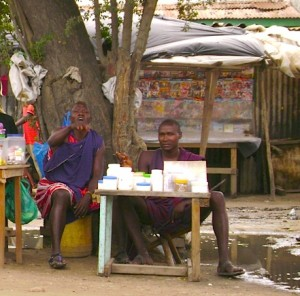 Traditional healers on the roadside