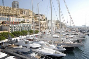 The yacht show at Monaco