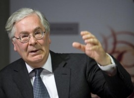 Sir Mervyn King. Image by Getty. 