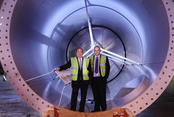 First Minister Alex Salmond favours wind power. Image by Getty