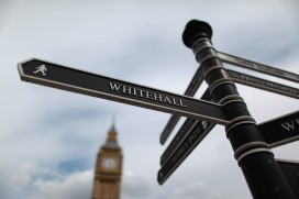 A sign pointing to Whitehall (Peter Macdiarmid/Getty)