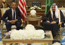 Saudi Arabia's newly appointed King Salman meets with US President Barack Obama
