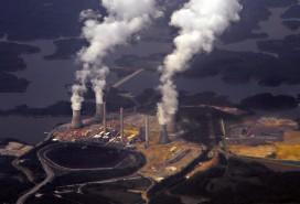 A coal-fired steam-turbine electric generating Plant in Georgia, USA