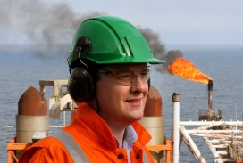George Osborne visiting the Montrose Platform in the North Sea