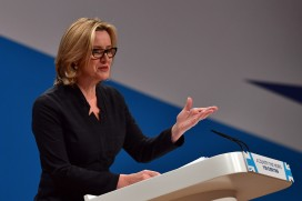 Amber Rudd, home secretary, speaking at the Conservative party conference