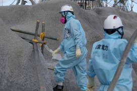 Workers decontaminating Japan's Fukushima Daiichi plant five years after the nuclear disaster