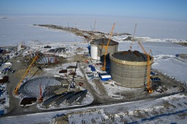 Construction of Russia's Yamal LNG facility
