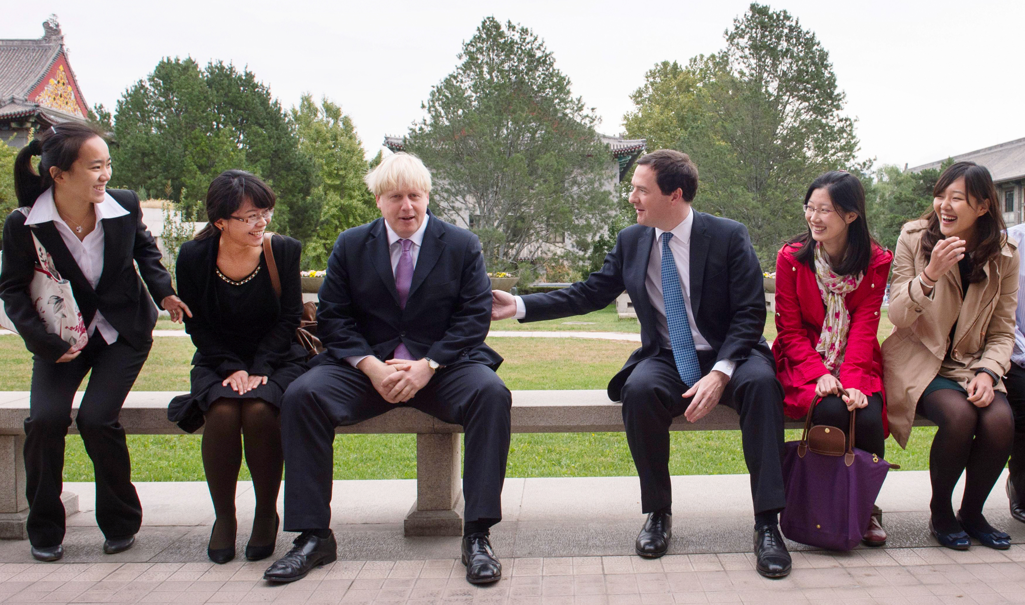 Mayor of London Boris Johnson and Chancellor of the Exchequer George Osborne meet students at Peking University in Beijing where they addressed and held a Q&A with staff and students.