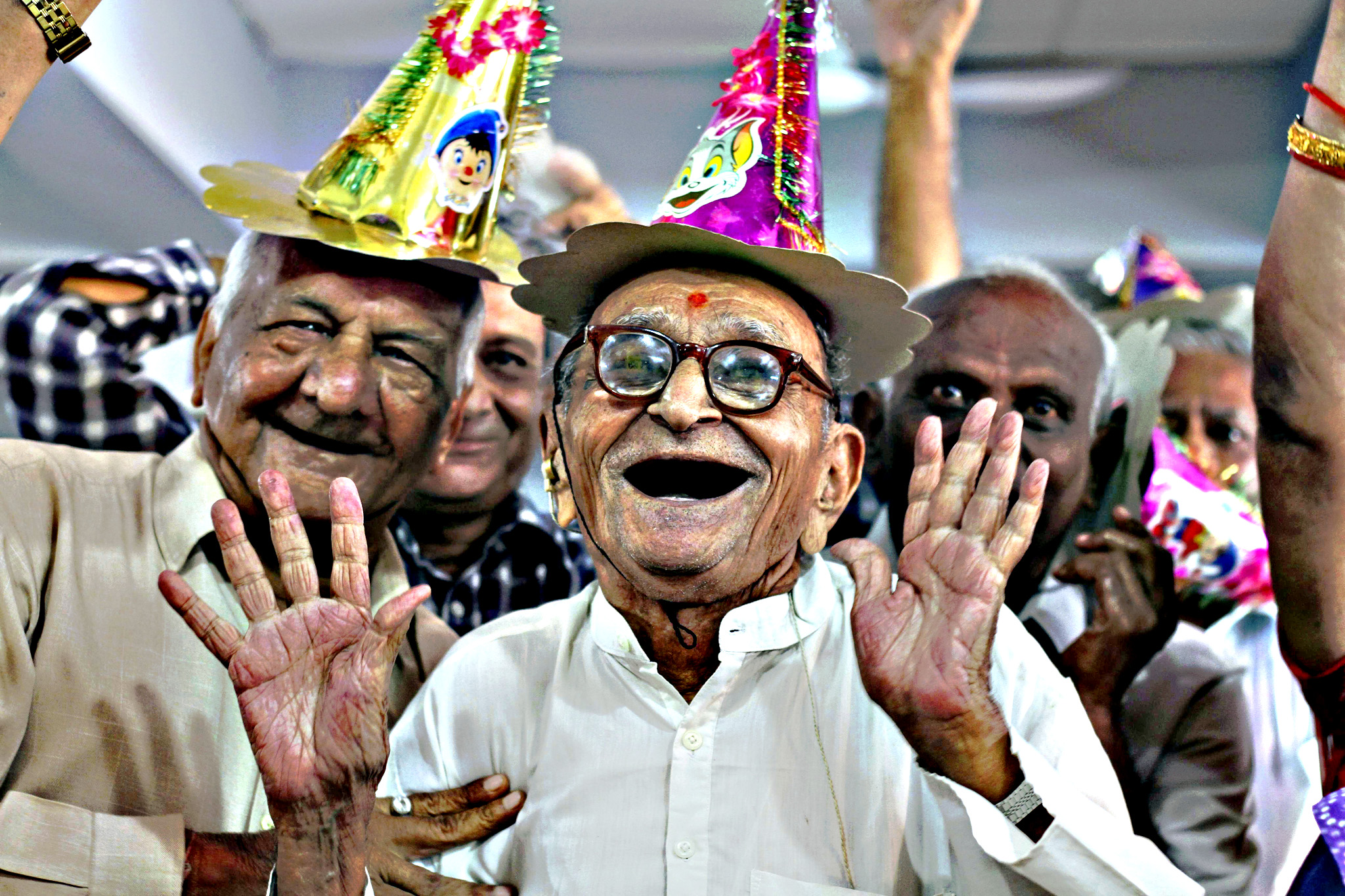 Elderly Indians participate in celebrations to mark International Day of Older Persons at an old age home in Ahmadabad, India, Tuesday, Oct. 1, 2013. Much of the world is not prepared to support the ballooning population of elderly people, including many of the fastest-aging countries, according to a global study scheduled to be released Tuesday, Oct. 1, by the United Nations and an elder rights group.