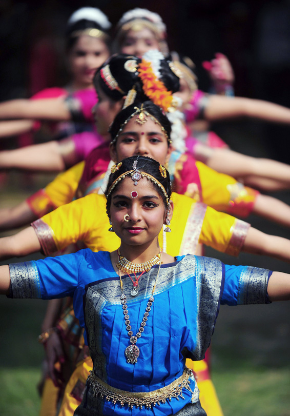 Indian schoolgirls participate in a trad...Indian schoolgirls participate in a traditional dance to commemorate 124th birth anniversary of India's late first prime minister Jawahar Lal Nehru at his ancestral home, Anand Bhawan, in Allahabad on November 14, 2013. The day is celebrated as Children's Day in memory of Nehru who had a special affection towards children. AFP PHOTO/SANJAY KANOJIASanjay Kanojia/AFP/Getty Images