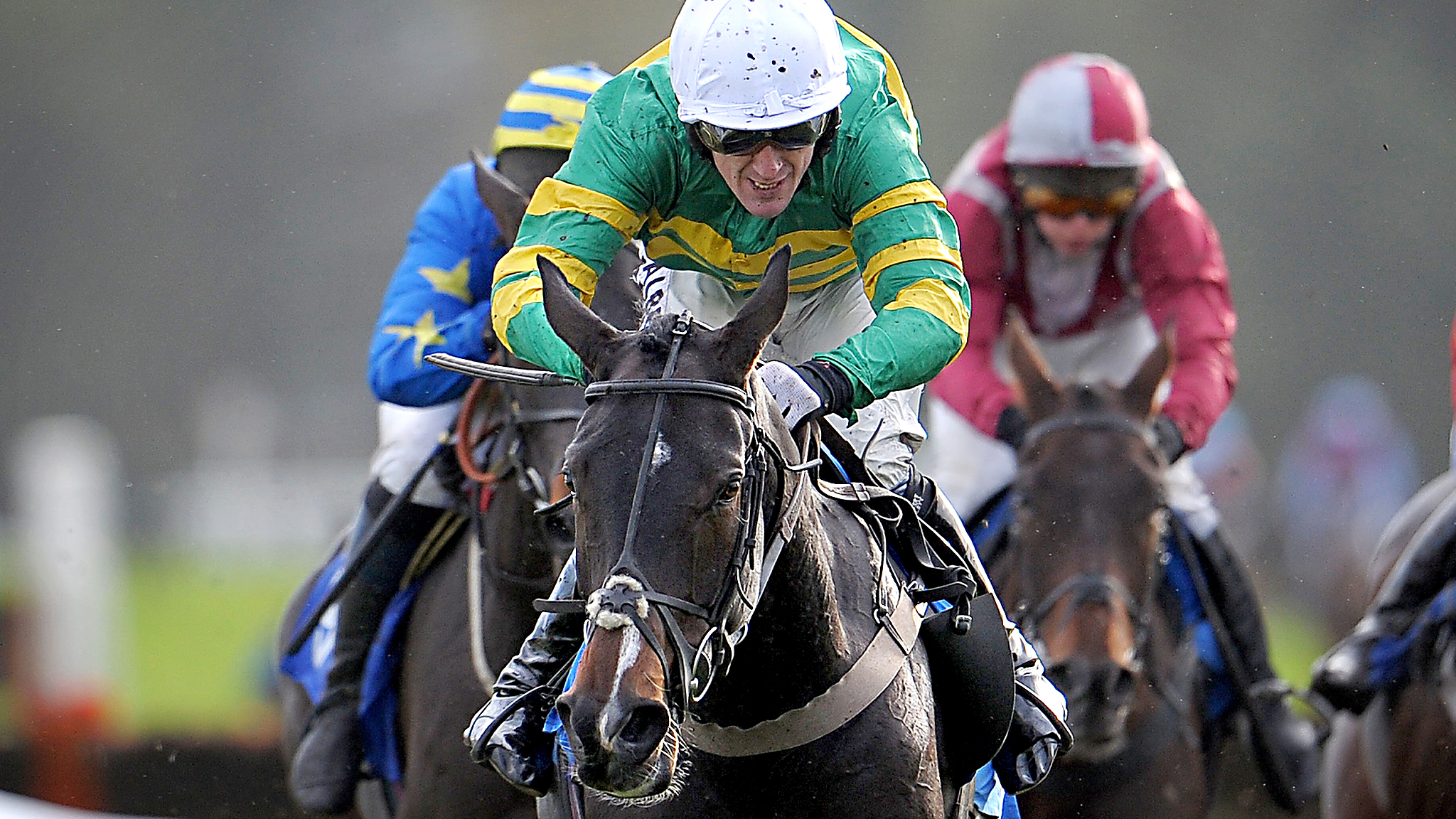 Jockey Tony McCoy rides 'Keen Eye' during the second race at Exeter Racecourse, Exeter. Despite having two rides, McCoy remains on 3,998 winners, and still chasing a record breaking 4,000th winner over jumps. He has two rides at Chepstow races tomorrow.